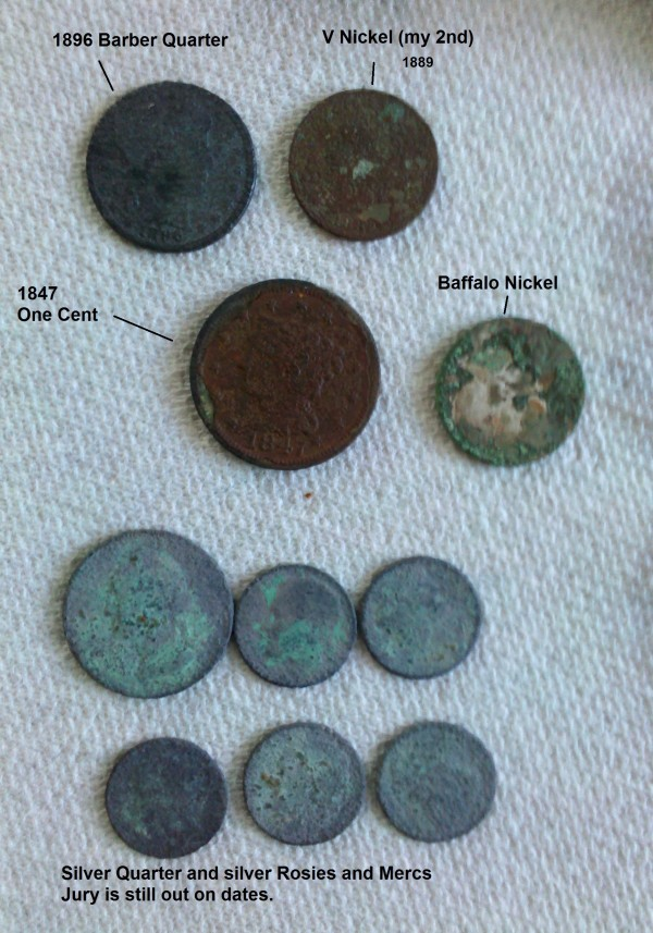silver coins and copper