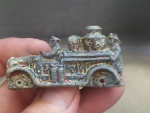 Tootsie Toy Fire Engine found while metal detecting