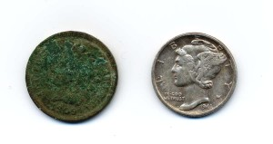 coins found metal detecting